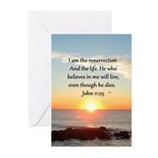 JOHN 11:25 Greeting Cards (Pk of 20)