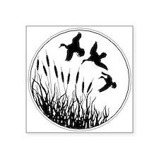 Cattails And Ducks Sticker