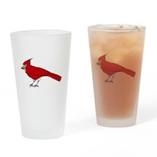 Red Cardinal Drinking Glass