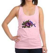 Bird Feeding Chicks Racerback Tank Top