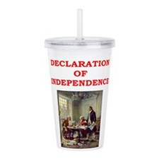 declaration of independence Acrylic Double-wall Tu