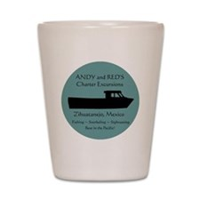 Zihuatanejo Charter Boats Shot Glass