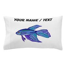 Custom Blue Betta Fish Pillow Case