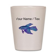 Custom Blue Betta Fish Shot Glass