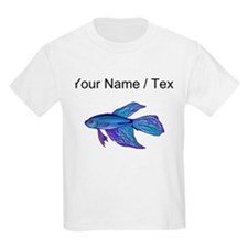 Custom Blue Betta Fish T-Shirt