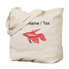Custom Pink Betta Fish Tote Bag