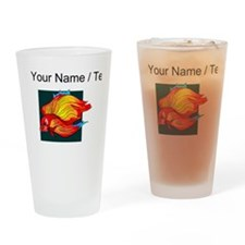Custom Orange Betta Fish Drinking Glass