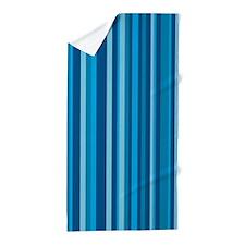 Blue & Light Blue Stripes Beach Towel