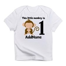 1st Birthday Monkey Personalized Infant T-Shirt