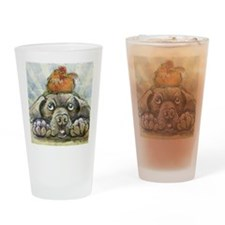 The Chicken and the Dog Drinking Glass