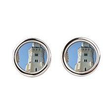 Rises from an inner courtyardka Ca Round Cufflinks