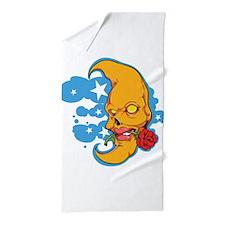 Moon with Rose Beach Towel