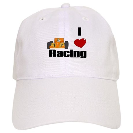Auto Racing  Gifts on Auto Racing Gifts   Auto Racing Hats   Caps   I Love Racing