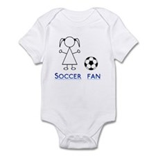 Soccer fan girl Infant Bodysuit