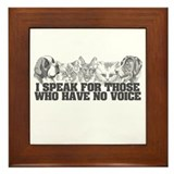 Animal Voice Framed Tile