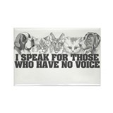 Animal Voice Rectangle Magnet (100 pack)