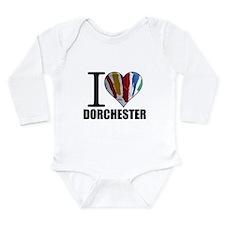 I Love Dorchester Long Sleeve Infant Bodysuit