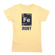 Ironic Chemical Element FE Irony Girl's Tee