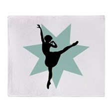 Beautiful Ballerina Throw Blanket