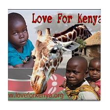 Love For Kenya Tile Coaster
