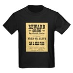 Wanted Sam & Belle Starr Kids Dark T-Shirt
