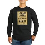 Wanted Sam & Belle Starr Long Sleeve Dark T-Shirt
