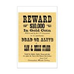 Wanted Sam & Belle Starr Mini Poster Print