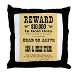 Wanted Sam & Belle Starr Throw Pillow