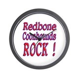 Redbone Coonhounds Wall Clock