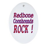 Redbone Coonhounds Oval Ornament
