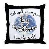 Giant Schnauzer World2 Throw Pillow