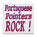 Portuguese Pointers Tile Coaster