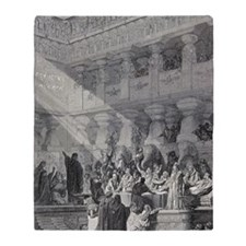 Belshazzar's Feast by Gustave Dore,  Throw Blanket