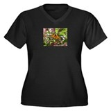 Monarch Butterfly Women's Plus Size V-Neck Dark T-