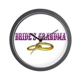 Bride's Grandma (rings) Wall Clock