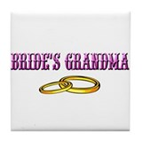 Bride's Grandma (rings) Tile Coaster