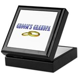 Groom's Grandpa (rings) Keepsake Box