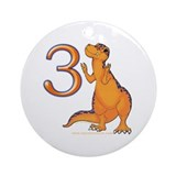 Kids Dino 3rd Birthday Gifts Ornament (Round)