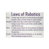 Asimov's Robot Series Laws of Robotics Rectangle M
