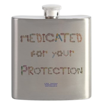 Medicated for your Protection flask.
