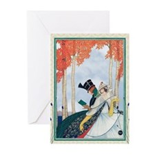 Georges Plank Lovers In Park Greeting Cards
