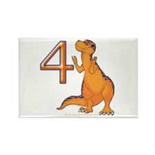 Kids Dino 4th Birthday Gifts Rectangle Magnet