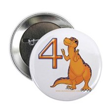 Kids Dino 4th Birthday Gifts Button