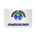 World's Greatest GRANDCHILDREN Rectangle Magnet (1