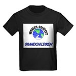 World's Greatest GRANDCHILDREN Kids Dark T-Shirt