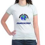 World's Greatest GRANDCHILDREN Jr. Ringer T-Shirt