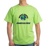 World's Greatest GRANDCHILDREN Green T-Shirt