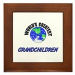 World's Greatest GRANDCHILDREN Framed Tile