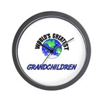 World's Greatest GRANDCHILDREN Wall Clock