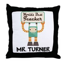 Best Teacher Personalized Throw Pillow